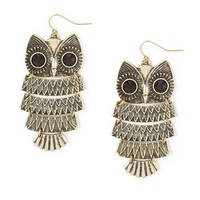 Owl Articulated Drop Earrings | Claire's