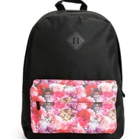 A-Lab Meow Floral Kitten Backpack