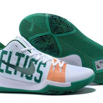 PEAP Nike Kyrie Irving 3 White/Green Sport Shoes US7-12