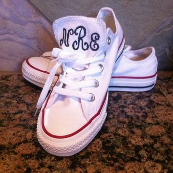One of the HOTTEST Trends this Season-Monogrammed authentic Converse Sneakers