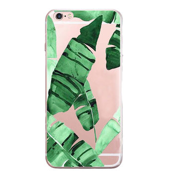 Musa Leaves Printed Case for iPhone 6 7 7 Plus
