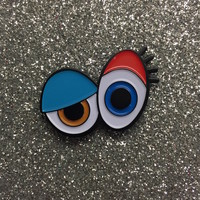 """LITTLE LUX """"WE SEE YOU"""" ENAMEL FLAIR PIN"""