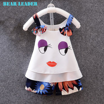 Bear Leader Girls Clothes 2016 Brand Girls Clothing Sets Kids Clothes Cartoon Children Clothing Toddler Girl Tops+Pants 3-7Y