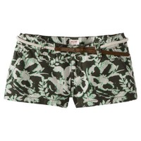 Mossimo Supply Co. Printed Canvas Short w/ Belt - Olive