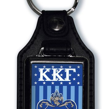 Kappa Kappa Gamma US Flag Style Licensed Greek Life Keychain