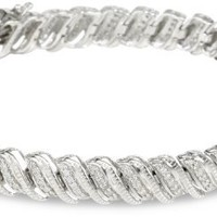 Sterling Silver Diamond Bracelet (1 cttw, I-J Color, I3 Clarity), 7.5""