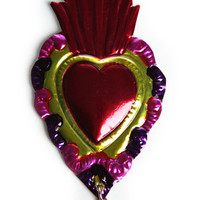 GIZA / HEART BROOCH / RED