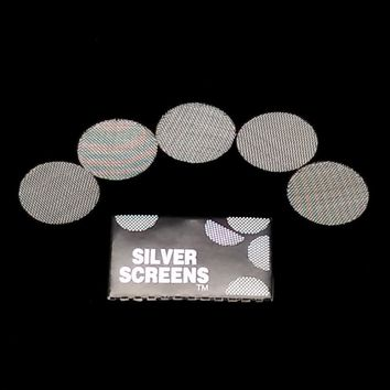 Mettle100pcs Silver Pipe Screens For Metal Glass Wooden Acrylic Water Smoking Tobacco Pipe Filters Shisha Hookah Chicha Narguile