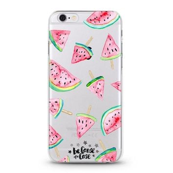 Watermelon Popsicles Clear Case