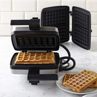 Croquade Waffle Maker with Giant Brussels and Traditional Waffle Plate