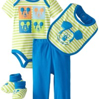 Disney Baby-Boys  Mickey Mouse Boys 4 Piece Set