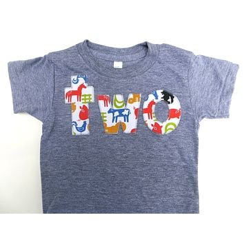 Farm Birthday Shirt Boys 2nd Two T