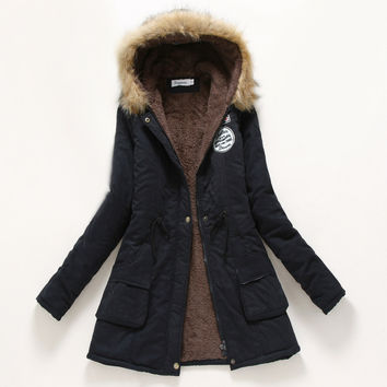 Military Hooded Cotton Coat Winter Jacket Coats Women