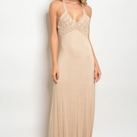 113-1-1-D15710 TAUPE DRESS 2-2-2