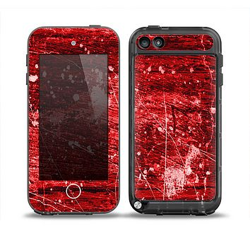 The Red Grunge Paint Splatter Skin for the iPod Touch 5th Generation frē LifeProof Case