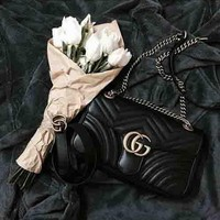 Gucci Popular Women Leather Buckle Shoulder Bag Crossbody Satchel I
