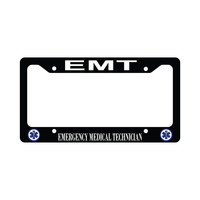 Emt Blue Star Of Life Emt Emergency Medical Technician Car License Plate Frame
