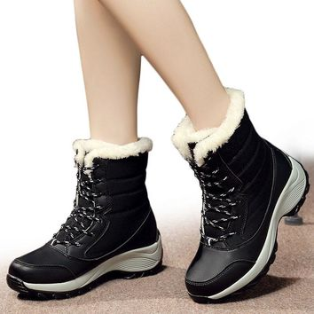Women Boots Winter Shoes Women Snow Boots Women Plus Size Hot Platform Boots Winter Female Warm Botas Mujer 2018 White Booties