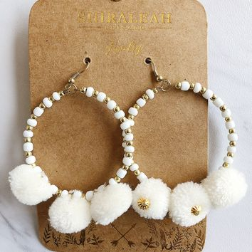 Zuma Earrings - White