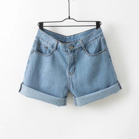 Summer Denim Shorts Plus Size Slim Jeans [4918017284]