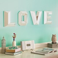 Love Faceted Mirror