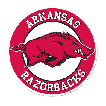 BSI Home Indoor Wall Decorative Arkansas Razorbacks Sports Team Logo Vinyl Magnet