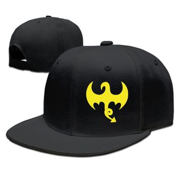 Iron Fist Marvel Logo Funny Unisex Adult Womens Snapback Caps Mens Hip-hop Hats