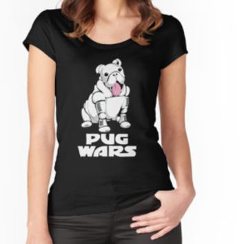 'Pug Wars' Classic T-Shirt by SleeplessLady