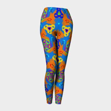 Hand Drawn Doodle All Over Print leggings