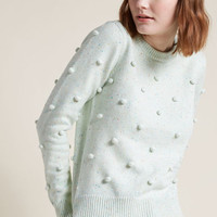 Pom-Pom Knit Sweater in Confetti
