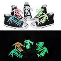 TopTie Glowing Shoelaces Glow In The Dark, 46 Inch, Price / Pair NEONGREEN-46