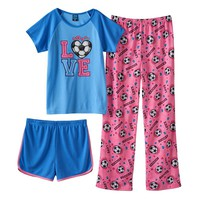 Jelli Fish Sports Pajama Set - Girls