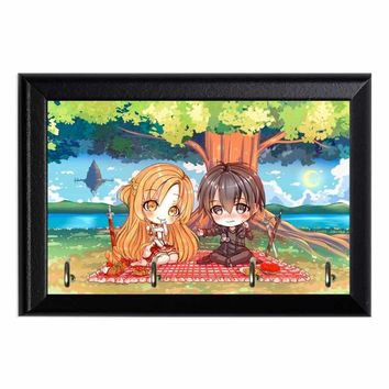 SOA Kirito and Asuna Chibi Wall Plaque Key Holder Hanger