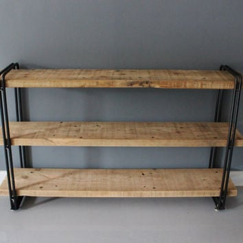 Industrial Urban Wood Reclaimed Shelf / Shelving Unit - Free Shipping - Lifetime Warranty - Salvaged Barn WOod