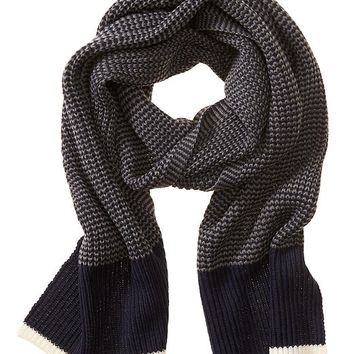 Banana Republic Factory Tipped Scarf Size One Size - Navy