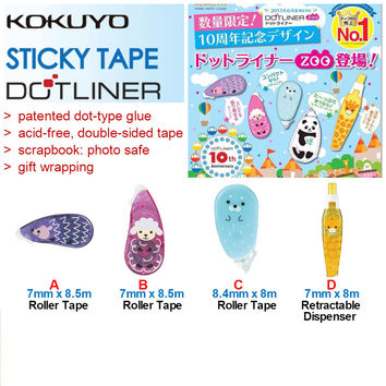 Kokuyo DotLiner Acid-free Glue Roller Limited Edition Zoo Series