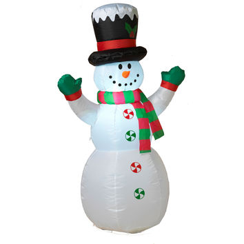 Outdoor Air Blown Inflatable Lighted Snowman 4 Foot Christmas Holiday