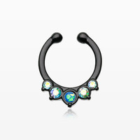 Colorline Opal Precia Fake Septum Clip-On Ring