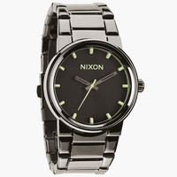 Nixon The Cannon Watch Polished Gunmetal/Lum One Size For Men 24408811201