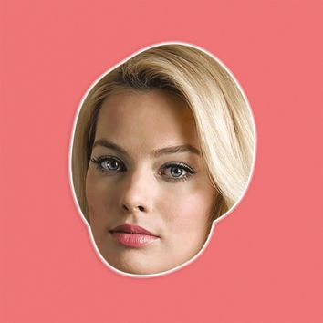 Confused Margot Robbie Mask by RapMasks
