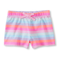 Toddler Girls Rainbow Striped Shorts | The Children's Place