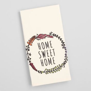 Home Sweet Home Embroidered Kitchen Towel