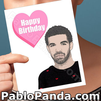 Happy Birthday Card | Drake Card | Drake Birthday Card Boyfriend Gift Birthday Card Greeting Cards Hotline Bling Drake Gift Drizzy Funny Him