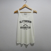 Slytherin Quidditch Game Funny Tank Top Women Size S M L