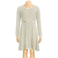 Full Tilt Stripe Girls Skater Dress Black/White  In Sizes