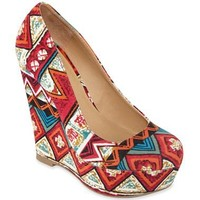 Olsenboye® Paprika Wedge Pumps $35