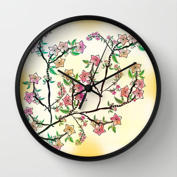 Cherry Blossoms Wall Clock by Famenxt