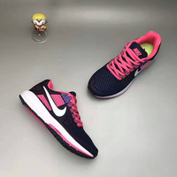"""NIKE"" Fashion Casual Multicolor Knit Fly Line Sneakers Women Running Shoes"