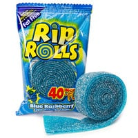 Sour Rip Rolls - Blue Raspberry: 24-Piece Display