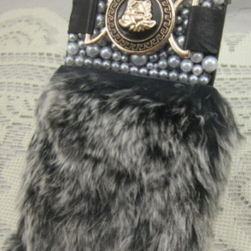 Luxe Faux Fur Pearl Phone Case